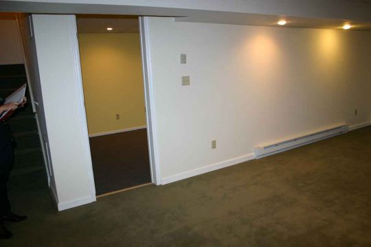 Basement remodeling - before