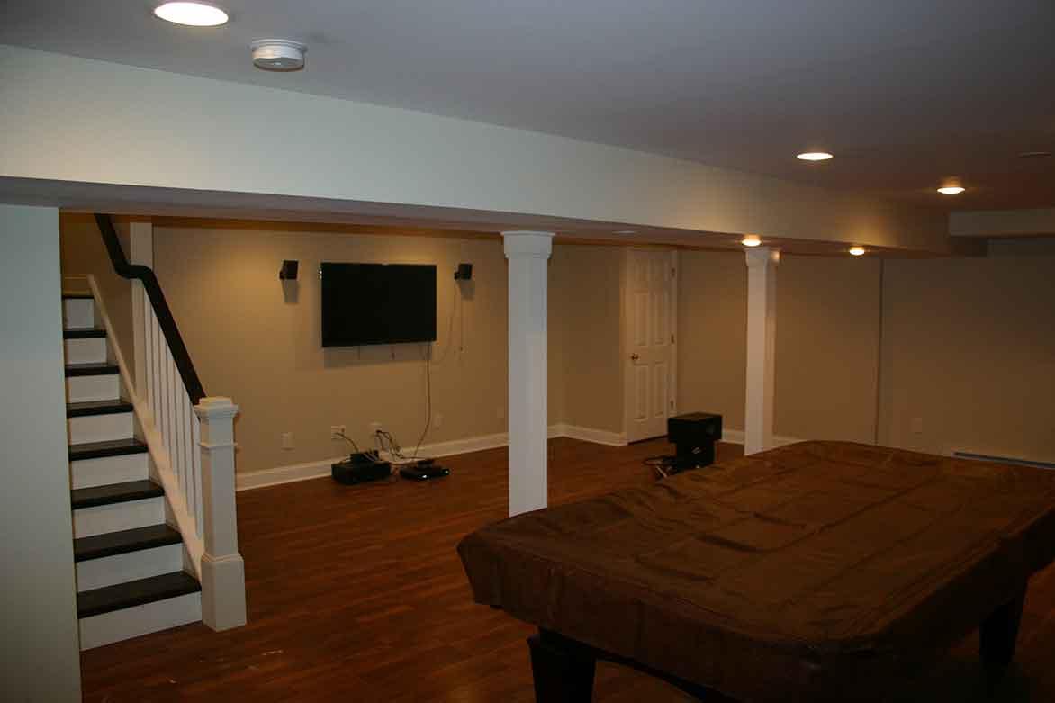 Basement remodeling NJ - after